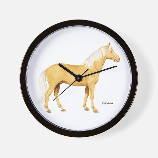 Palomino Horse Wall Clock