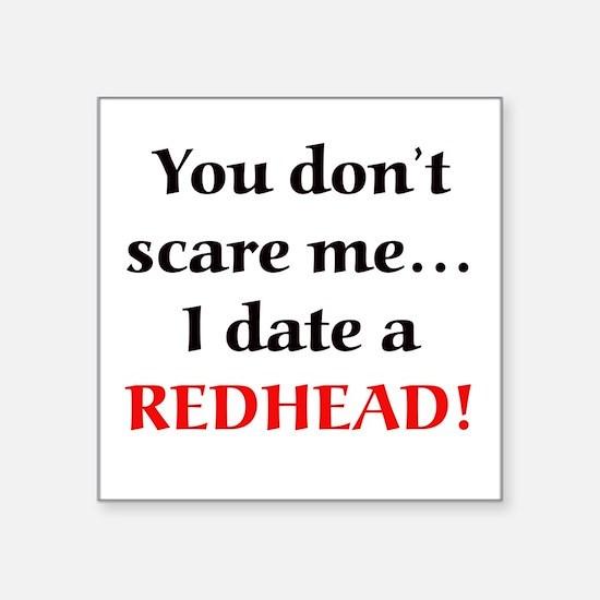 """Unique Redheaded Square Sticker 3"""" x 3"""""""