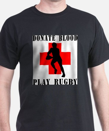 Cute Give blood play rugby T-Shirt