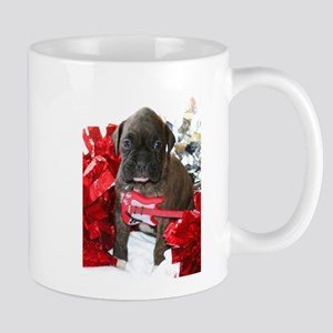 Boxer puppy holiday Mugs