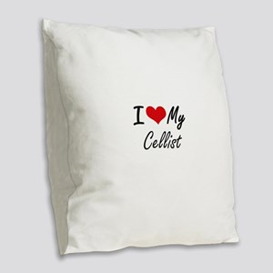 I love my Cellist Burlap Throw Pillow