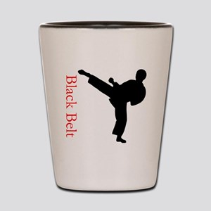 Black Belt Shot Glass