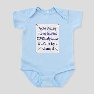 Buday For Prez 2040 Political Sweat Shop Creeper