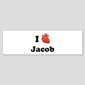I (Heart) Jacob Bumper Sticker
