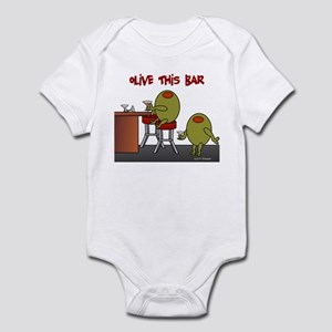 Olive This Bar Infant Bodysuit