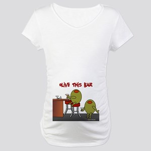 Olive This Bar Maternity T-Shirt