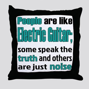 People are like Electronic Guitar Throw Pillow