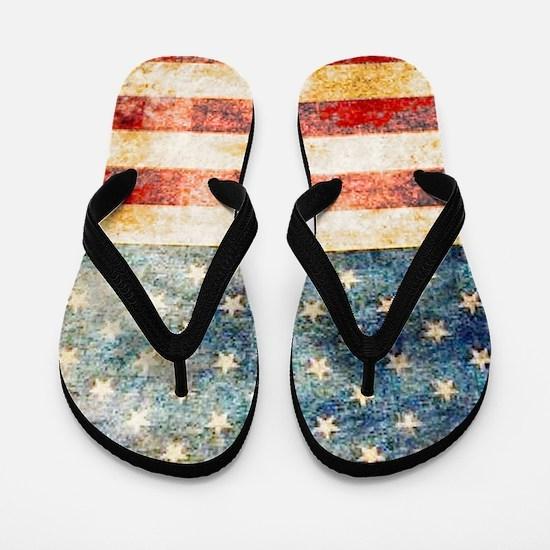 Funny American flag Flip Flops