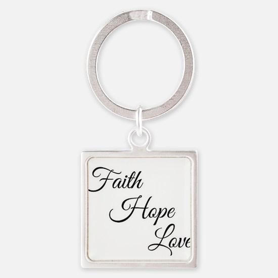 Faith Hope Love Keychains