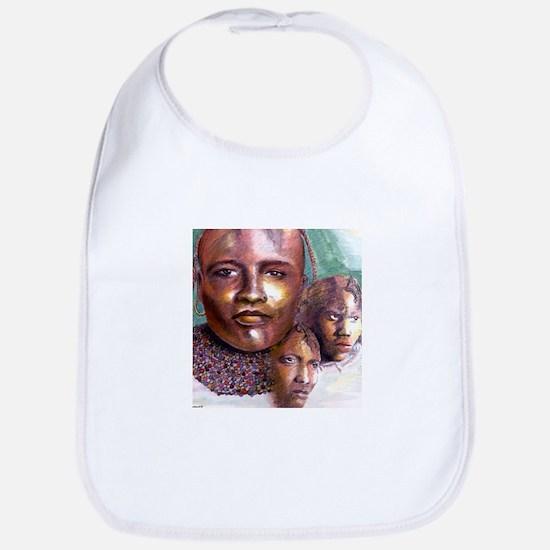 3 Faces of Africa Bib