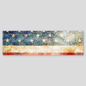 Stars over Stripes Vintage Bumper Sticker