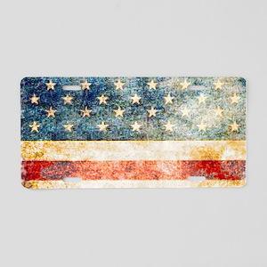 Stars over Stripes Vintage Aluminum License Plate