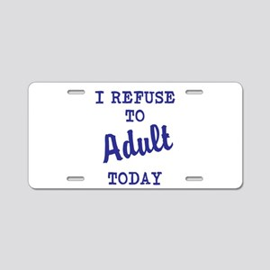 adult today Aluminum License Plate