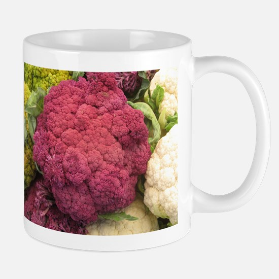 IMG_9303.JPG ppurple cauliflower in grouo Mugs