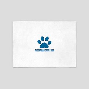 Australian Cattle Dog Designs 5'x7'Area Rug