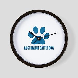 Australian Cattle Dog Designs Wall Clock