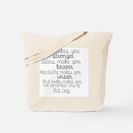 Funny Vodka humor Tote Bag