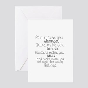 vodka humor Greeting Cards