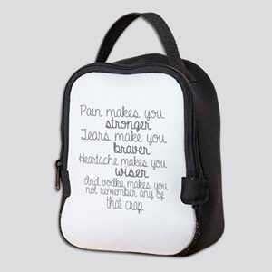 vodka humor Neoprene Lunch Bag