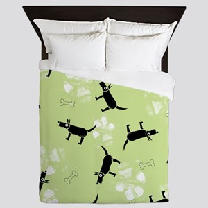 Dogs on Paws Queen Duvet