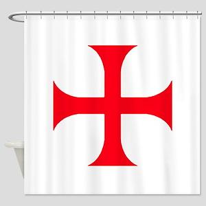 Templar Red Cross Shower Curtain
