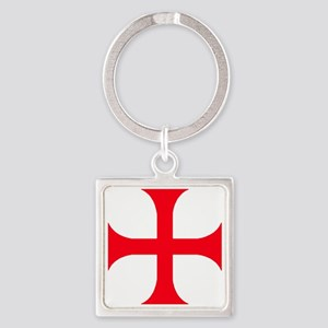 Templar Red Cross Square Keychain