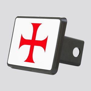 Templar Red Cross Rectangular Hitch Cover