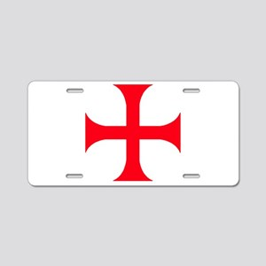 Templar Red Cross Aluminum License Plate