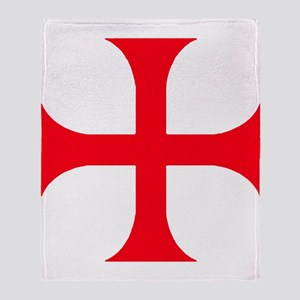 Templar Red Cross Throw Blanket