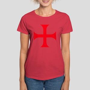 Templar Red Cross Women's Dark T-Shirt