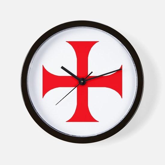 Templar Red Cross Wall Clock