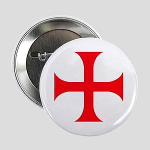 """Templar Red Cross 2.25"""" Button"""