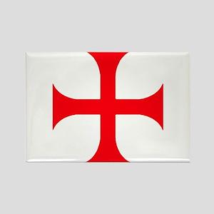 Templar Red Cross Rectangle Magnet
