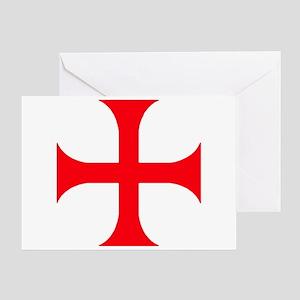 Templar Red Cross Greeting Card