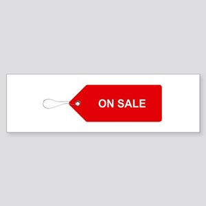 Red Tag Sale - On Sale Bumper Sticker