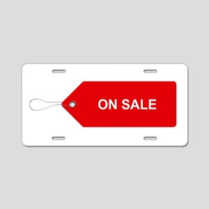 Red Tag Sale - On Sale Aluminum License Plate