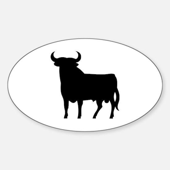 Cute Bull snake Sticker (Oval)