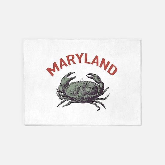 Maryland Crab 5 X7 Area Rug