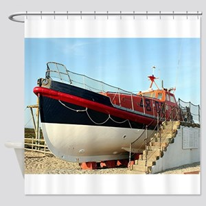 Lifeboat, Land's End, England Shower Curtain
