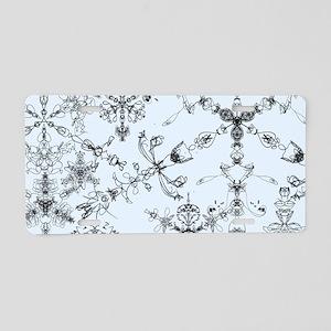 Winter Snow Aluminum License Plate