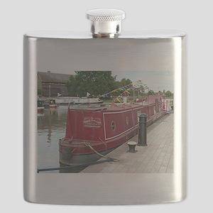 Barge art gallery, Stratford, England Flask