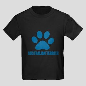 Australian Terrier Dog Designs Kids Dark T-Shirt