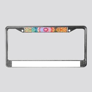 Shades of Rainbow License Plate Frame