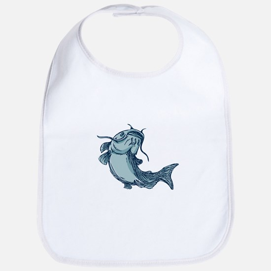 Catfish Mud Cat Jumping Up Drawing Bib