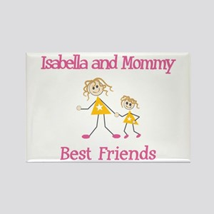 Isabella & Mommy - Friends Rectangle Magnet (10 pa