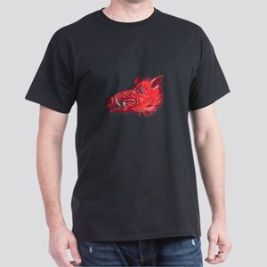 Wild Boar Razorback Head Side Drawing T-Shirt