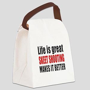 Life is great Skeet Shooting make Canvas Lunch Bag