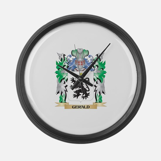 Gerald Coat of Arms (Family Crest Large Wall Clock