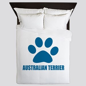 Australian Terrier Dog Designs Queen Duvet