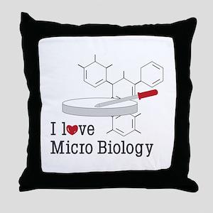 Micro Biology Throw Pillow